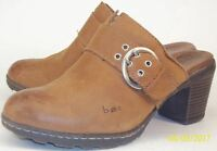 B.O.C Born Concept Wos Shoes US 7 M Brown Leather Buckle Slip-On Mule Clogs 188
