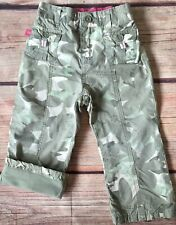 Gap Pants Size 18 24 Months Baby Girls Green Camouflage Floral Lined Gapkids