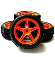Châssis, transmissions et roues rouges pour véhicule radiocommandé 1:10