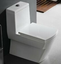 One Piece Toilet - Modern Bathroom Toilet - Dual Flush Toilet - Andale 25""