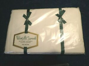 Vintage WAMSUTTA Supercale White Bed Twin Fitted Sheet Brand New Sealed