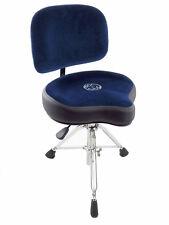 Roc-N-Soc NROB Nitro Series Drum Throne w/ Saddle Seat & Matching Backrest, Blue