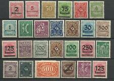 GERMANY 1919-23 INFLATION ERA STAMP COLLECTION PACKET of 25 DIFFERENT Stamps MNH