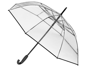 Mercedes Benz Stockschirm Regenschirm transparent Aluminium / Polyethylen  B6695