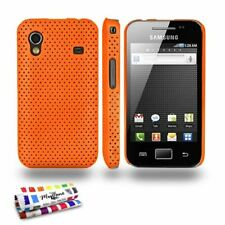 COQUE SAMSUNG GALAXY ACE ORANGE ALVEOLIA SILICONE RIGIDE (TPU)