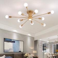 Modern 6/10 Light Sputnik Chandelier Semi Flush Mount Ceiling Light Fixture Deco