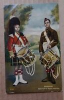 Postcard Early Military card Seaforth Highlanders posted 1907 National Series