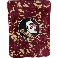 Florida State Seminoles College Covers 63 x 86 Soft Raschel Plush Throw Blanket