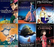 Lot 6 Affiches Roulées 40x60cm - HAYAO MIYAZAKI - Mononoke Totoro Chihiro NEUVE