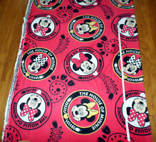 New **  MINNIE MOUSE  ** LARGE PRINT- Fleece Fabric - by the yard