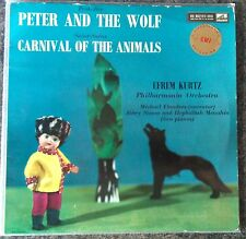 PROKOFIEV -Peter And The Wolf- UK HMV LP 1st Ed ASD 299 Michael Flanders Kurtz