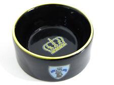 witziger Futternapf für den CHEF im Haus Keramik schwarz mit Krone 14cm