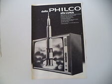 advertising Pubblicità 1969 TELEVISORE PHILCO