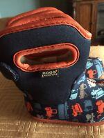 Bogs Kids Baby Bogs Trucks Boots-infant Toddler size 4 Waterproof Red Blue Cute