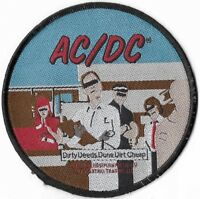Official Merch Woven Sew-on PATCH Rock Music AC/DC Dirty Deeds Done Dirt Cheap