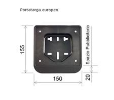PORTATARGA CICLOMOTORE E SCOOTER 50 CC EUROPEO 06