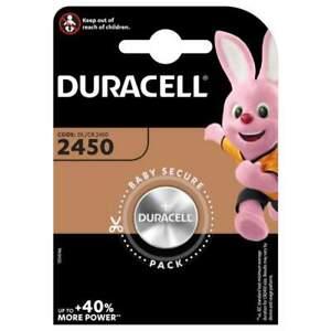 Pile CR2450 Duracell Bouton Lithium 3V
