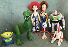 Disney Toy Story 4 Character Set Bundle - Woody Jessie Buzz Sporky And More
