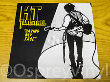 "KT Tunstall Saving my Face Mint Mis-print sleeve 7"" single"