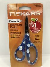"Fiskars 5"" Kids Scissors -Pointed Tip- Safety Edge Blades Planets 🔥🔥FAST SHIP"