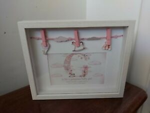 """G is for Gorgeous Baby Girl deep frame. Photo size 6 x 4"""". Freestanding hanging"""