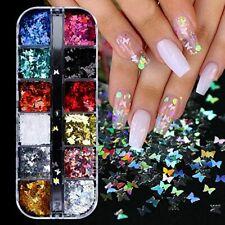 Nail Art Decoration Confetti Glitter Sheets Tips Nails Supply 12 Colors