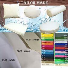 PL38-TAILOR MADE Outdoor Cream Wh Waterproof Sun Umbrella Patio sofa seat cover
