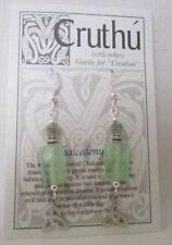 Chalcedony Silver Plated Costume Earrings