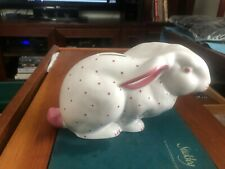 Tiffany & Co. Pink Bunny Piggy Bank Porcelain made in Austria
