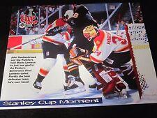 John Vanbiesbrouck 8 x 10 Stadium Giveaway Stanley Cup Moment Florida Panthers