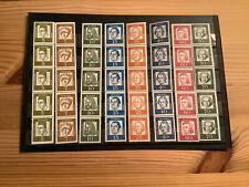 8 verschiedene 5er Streifen Bund Bedeutende Deutsche mit Rollennummer Postfrisch