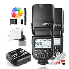 2* Godox V850II Camera Flash +X1C TTL Flash Trigger +Filter +Softbox for Canon