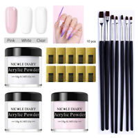 NICOLE DIARY Acrylic Powder Kits Nail Art UV Gel Brush Nail Form Quick Extension