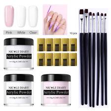 NICOLE DIARY Acrylic Powder Kits Nail Art UV Gel Brush Nail Form Quick Extension
