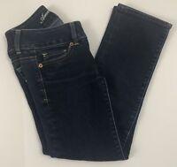 American Eagle Womens Size 00 Jeans Dark Wash Artist Regular Stretch EUC
