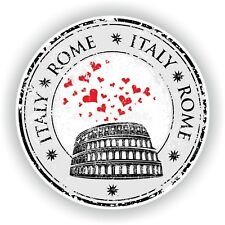 Italy Italia Rome Roma Stamp Bumper Sticker Decal for Car Laptop Tablet Door