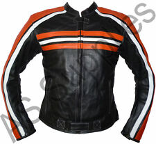 """FUSION"" New Armoured Leather Biker Motorcycle Jacket - All sizes!"