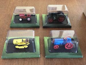 FOUR Hachette Scale Model Tractors 1/43 Diecast SEALED EXCELLENT