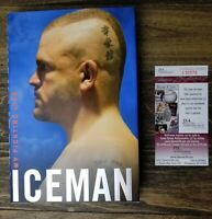 UFC Chuck Liddell Signed Iceman My Fighting Life Book Hardcover JSA COA