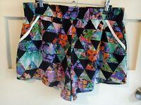 Bettina Liano Multicolour Elastic Waist Women's Shorts Size 14