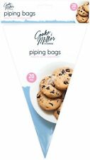 "20 x Cooke & Miller 12"" Large Disposable Decorating Icing Bag Piping Pastry"