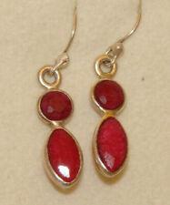 Ohrhänger indischer Rubin Silber 925  Edelsteinohrhänger   4,8 ct