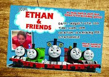 THOMAS THE TANK ENGINE Invitation TRAIN Birthday Party Invite digitalfile PERCY