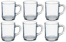 Duralex Set di 6 tazze di vetro 260ml impilabili, lavabili in lavastoviglie, resistente agli urti