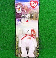 *NEW in BOX* RARE 1996 Retired Maple The Bear McDonald's Ty Beanie Baby w/Errors