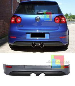 VW GOLF 5 V 2003-2008 DIFFUSORE POSTERIORE LOOK R32 ESTRATTORE SOTTO PARAURTI .-