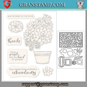 SIMPLY SUCCULENTS Metal Cutting Dies and Stamps (Price include STAMP and DIE)