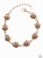Paparazzi Copper Flower Bracelet #0231/20