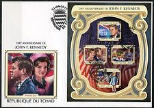 CHAD 2017 100th BIRTH OF JOHN F. KENNEDY IMPERFORATE SHEET FDC