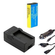 Akku + Ladegerät  für Pentax Digibino DB200, K100D, K100D Super, K110D, 230, Opt